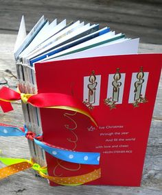 Recycle Christmas Cards – Make A Keepsake Album