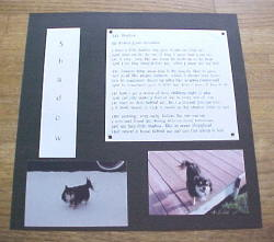 Pet Tribute Scrapbook layout idea