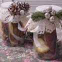 Lighted Holiday Potpourri Jars