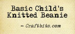 Basic Child's Knitted Beanie
