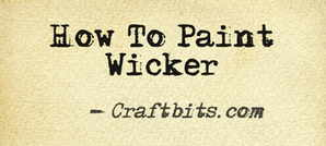 How to Paint Wicker