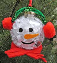 DIY Snowman Tree Ornament