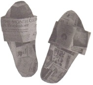 Newspaper Slippers