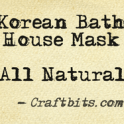 Korean Bath House Mask