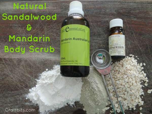 Sandalwood & Mandarin Scrub
