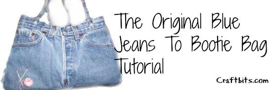 Blue Jeans Denim Bootie Bag Purse