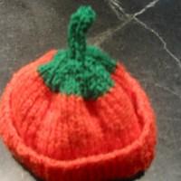 Seamless Preemie and Newborn Pumpkin Hat