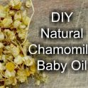 DIY Natural Chamomile Baby Oil