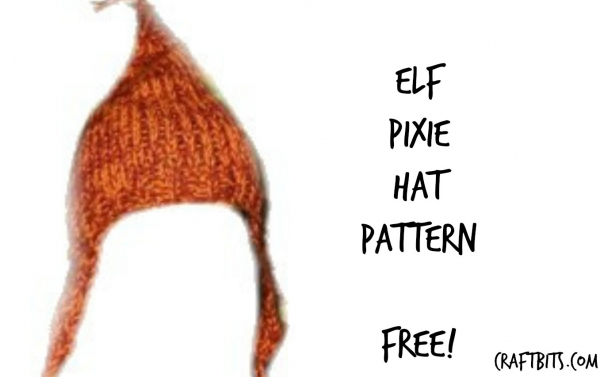 Knitted Elf Pixie Hat