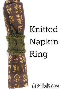 Knitted Napkin Ring