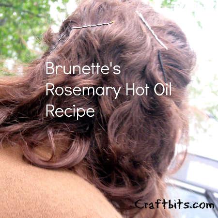 Brunette's Rosemary Hot Oil