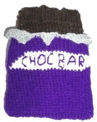 Knitted Chocolate Bar And Wrapper