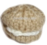 Knitted Cream Biscuit
