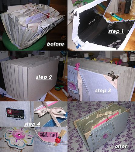 Steps to jeans letter holder