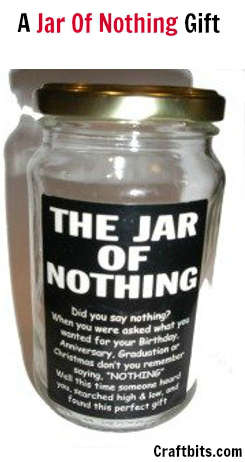 photograph regarding Jar of Nothing Printable Label Free named A Jar of Practically nothing Present
