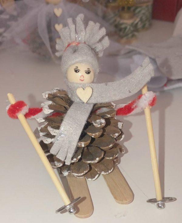 Pinecone Ski-man
