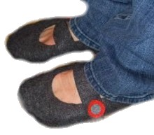 Mary Jane Felt Slippers