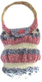 Red White Blue Knitted Bag