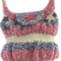 Knitted Red White Blue Bag