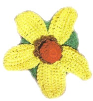 Crochet Flowers – Yellow Daisy