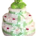 Layered Disposable Diaper (Nappy) Cake