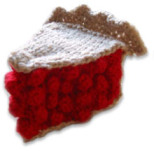 Knitted Cherry Pie