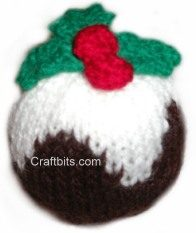 Knitted Decoration: Plum Pudding