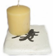 Plaster Candle Plate
