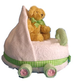 Baby Shower Towel Pram