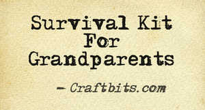 Survival Kit For Grandparents Craftbits Com