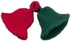 Knitted Christmas Bells