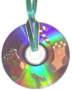 Tree Ornament Idea: CD Sticker