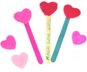 Love Wand – Quick Valentine's Day Craft