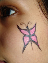 How to Face Paint: A Small Butterfly