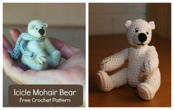 Icicle Mohair Bear Crochet Pattern