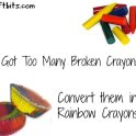 Broken Crayon Solution: Rainbow Crayon Cupcakes