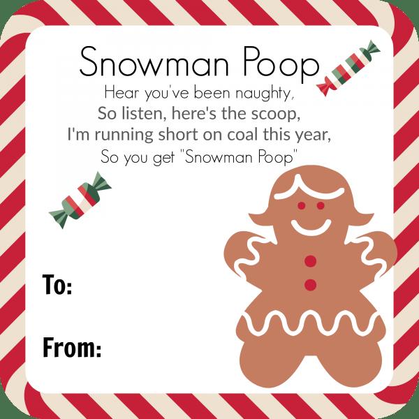 Snowman Poop (With Poem)