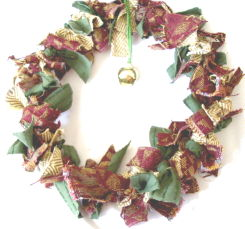 Rag Wreath: Fabric Swatch Rag