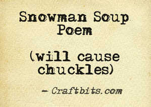 photo about Snowman Soup Poem Printable referred to as Snowman Soup Poem