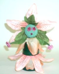 Clay Pot Flower Lady