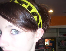 Head Band – Caution Tape