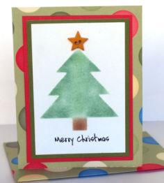 Christmas Card Idea: Chalked Tree