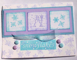 Christmas Card: Snowflakes And Snowmen