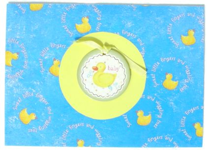 Blue Baby Duck Card