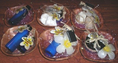 coconut wrapped gifts