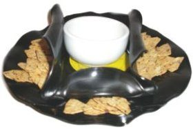 Vinyl LP Record Chip & Dip Bowl