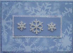 Christmas Card: Blue Snowflakes