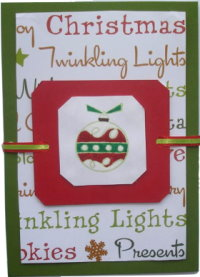 Christmas Card – Litte Red Ornament