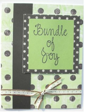 Baby Shower – Bundle Of Joy Card