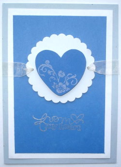 Valentines Card – Blue From My Heart